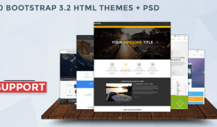 20 BOOTSTRAP HTML THEMES + PSD