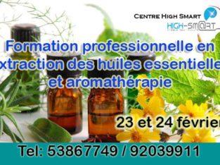 Extraction des huiles essentielles et aromathérapie